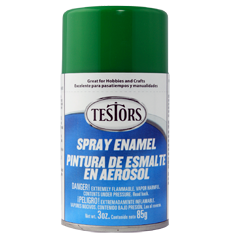 Testors Enamel Spray Green - Gloss