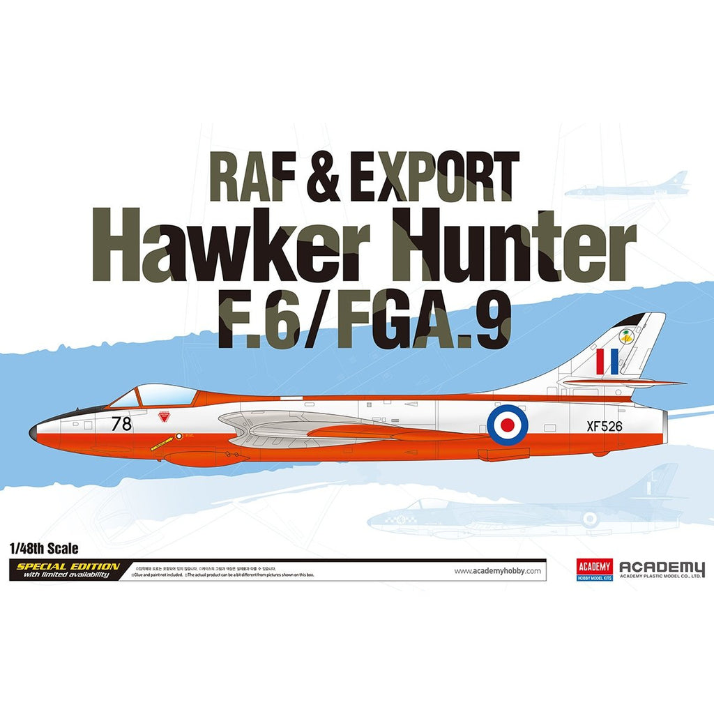 Academy 1/48 12312 Raf & Export Hawker Hunter F.6/Fga.9