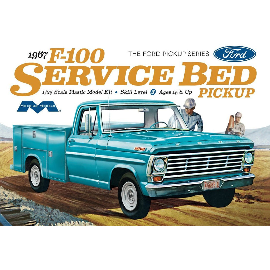 Moebius-1239-1967-Ford-F100-Service-Bed-Pickup-1-25th-scale