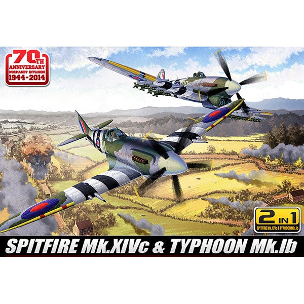 Academy 1:72 12512 Spitfire & Hawker Typhoon (2 In 1) - 70Th Anniversary Of Normandy Invasion