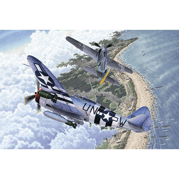 Academy 1:72 12513 P-47D & Fw190A-8 (2 In 1) - 70Th Anniversary Of Normandy Invasion