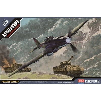 Academy 1:72 12538 Il-2M & Panther D - Two-In-One Kit