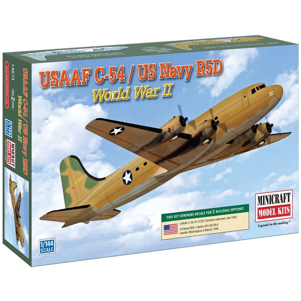 Minicraft-14673-1-144-WW2-C-54-USAAF-USN-2-options