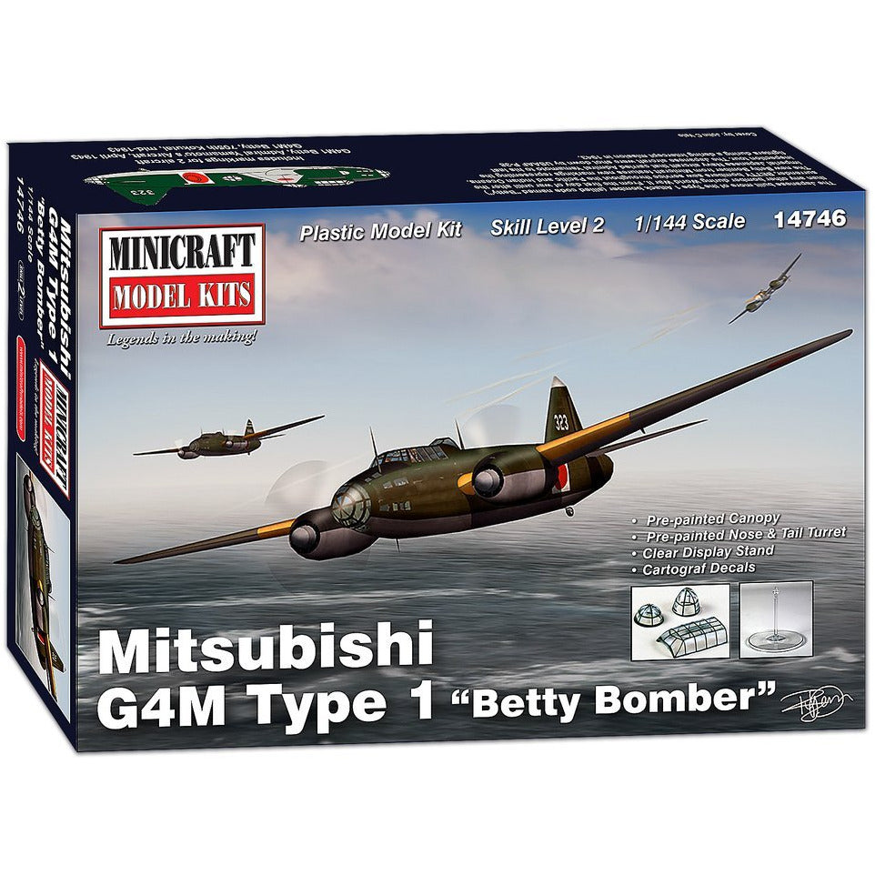 Minicraft-14746-1-144-Mitsubishi-G4M-Type-1-Betty-Bomber