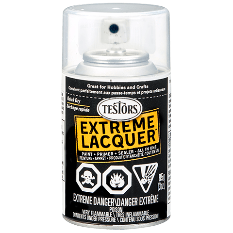 Testors EXTREME LACQUER SPRAY White Lightning - Gloss