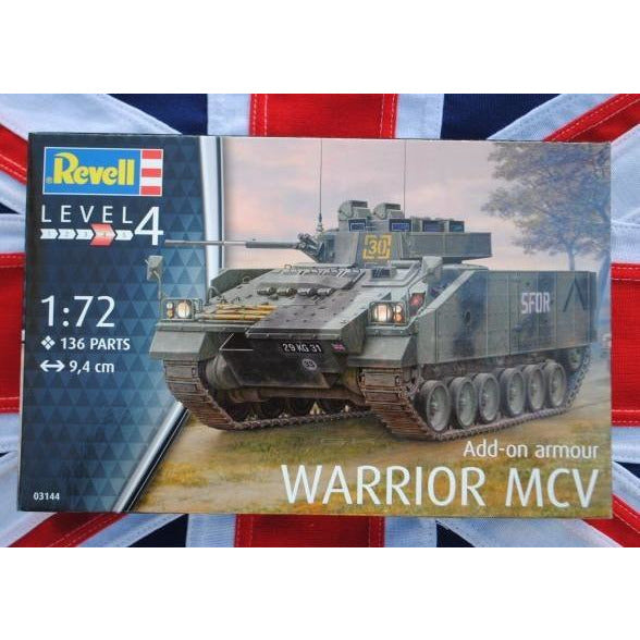 Revell 803144 1:72 Warrior MCV with Armor Model Kit