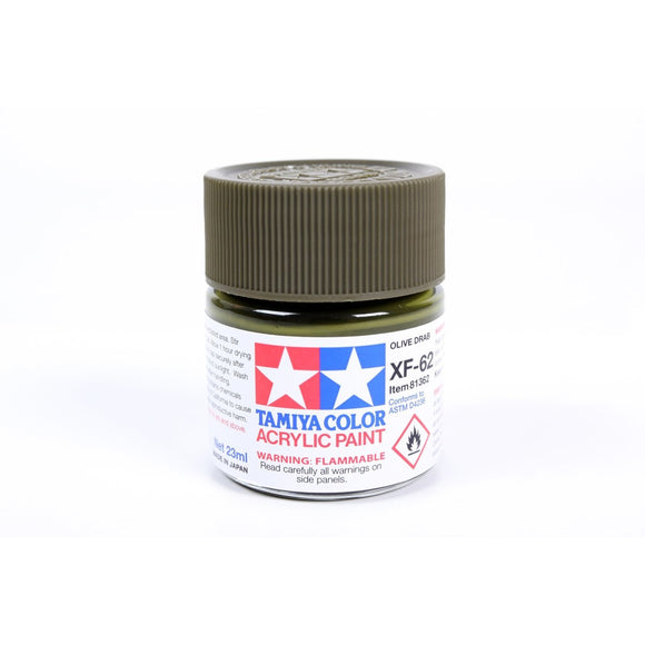 Acrylic Xf-62 Olive Drab 23Ml Bottle / Tamiya USA