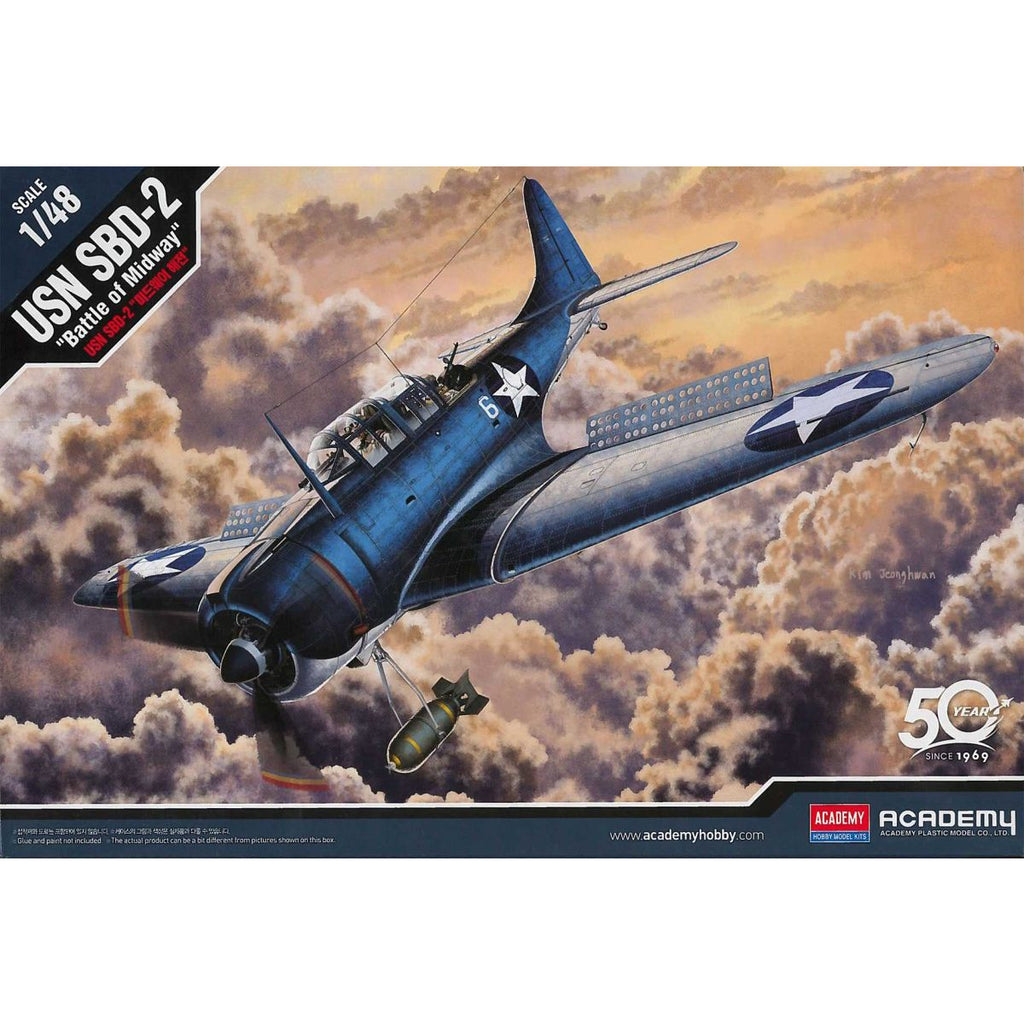 Academy 1/48 USN SBD-2 'Battle of Midway'