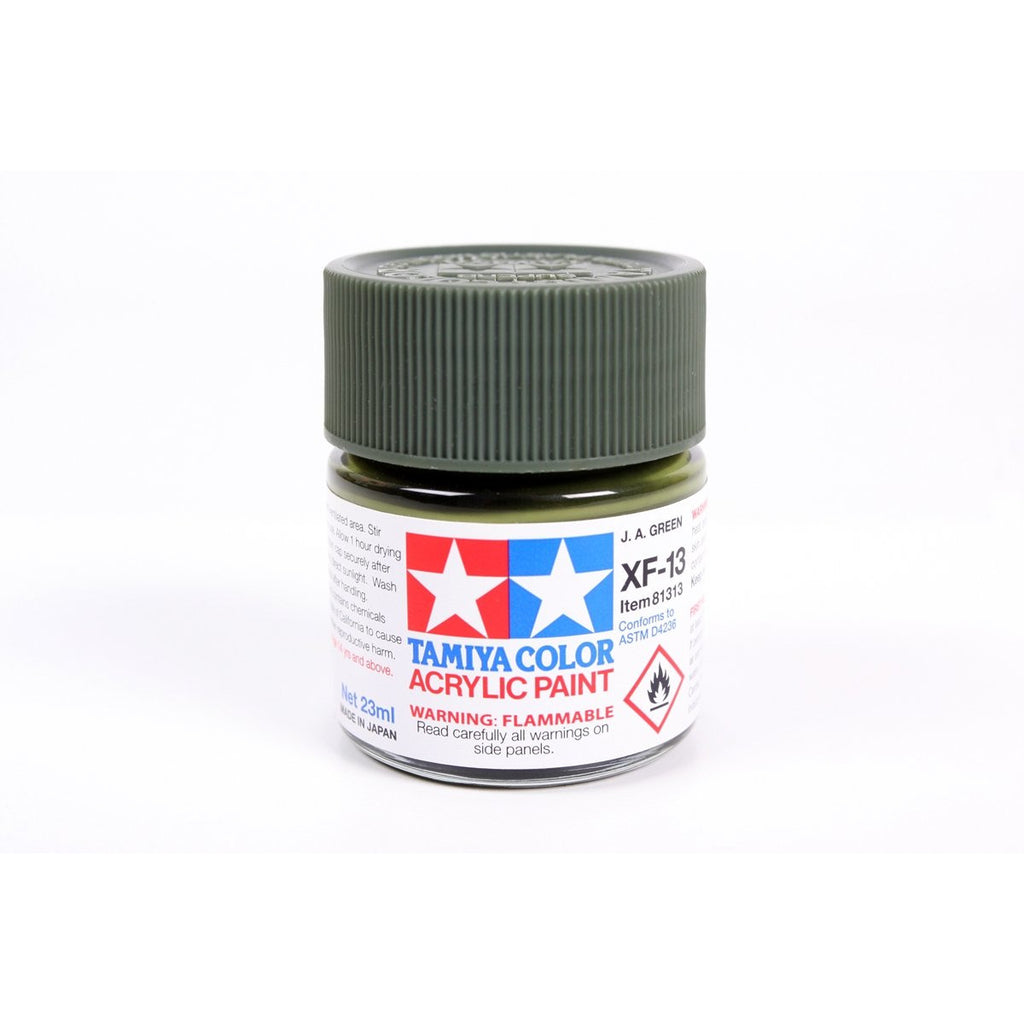 Acrylic Xf-13 J.A. Green 23Ml Bottle / Tamiya USA