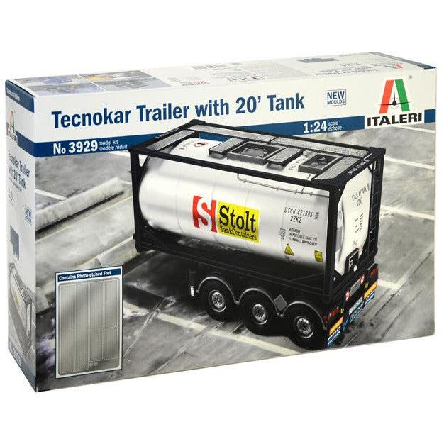 Italeri-1-24-TECNOKAR-TRAILER-WITH-20-TANK