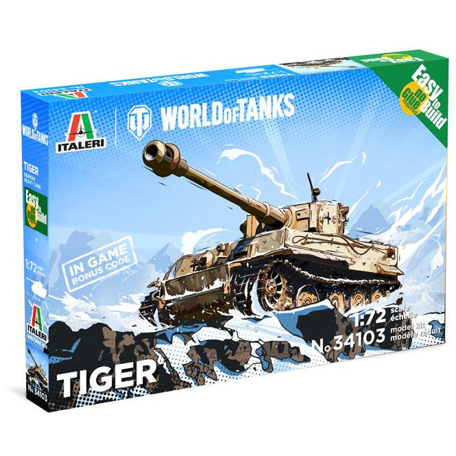 Italeri-1-72-TIGER-WoT-Easy-to-Build
