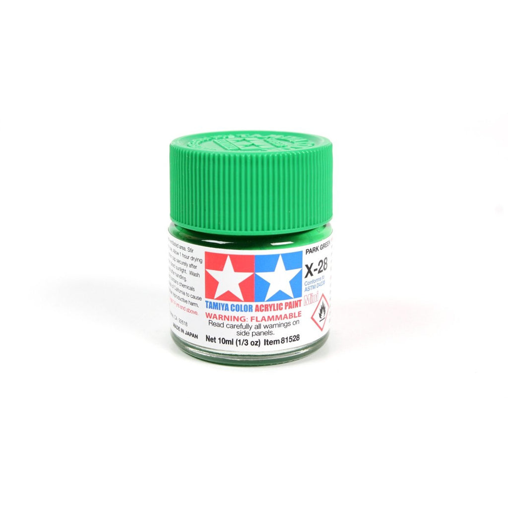 Acrylic Mini X-28 Park Green 10Ml Bottle / Tamiya USA