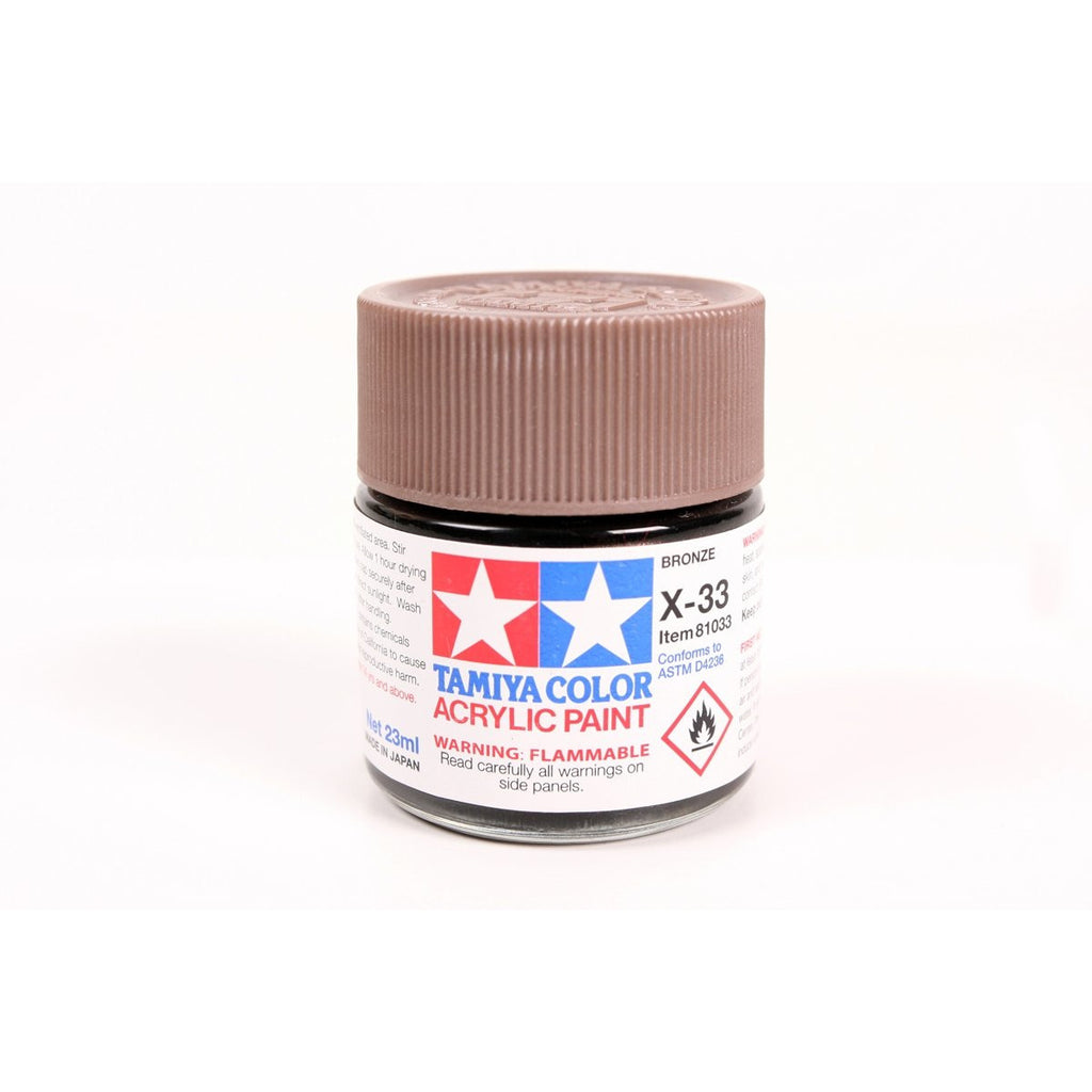 Acrylic X-33 Bronze 23Ml Bottle / Tamiya USA
