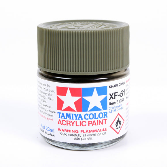 Acrylic Xf-51 Khaki Drab 23Ml Bottle / Tamiya USA