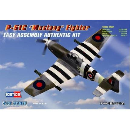 Hobby Boss 1:72 P-51C Mustang Fighter 80243