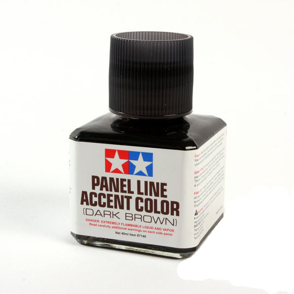 Panel Line Accent Color Dark Brown / Tamiya USA
