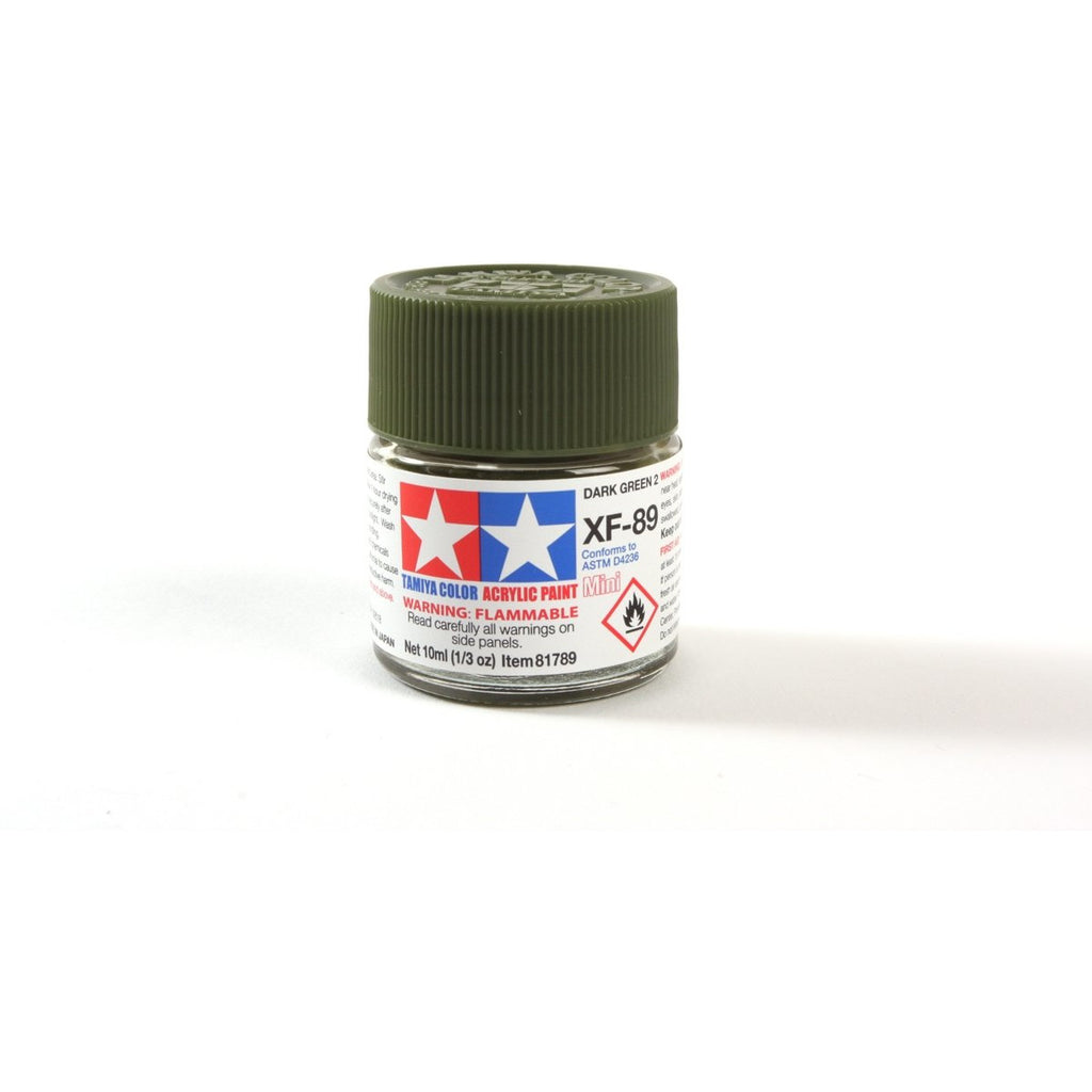 Acrylic Mini Xf-89 Dk Green 2 10Ml Bottle / Tamiya USA