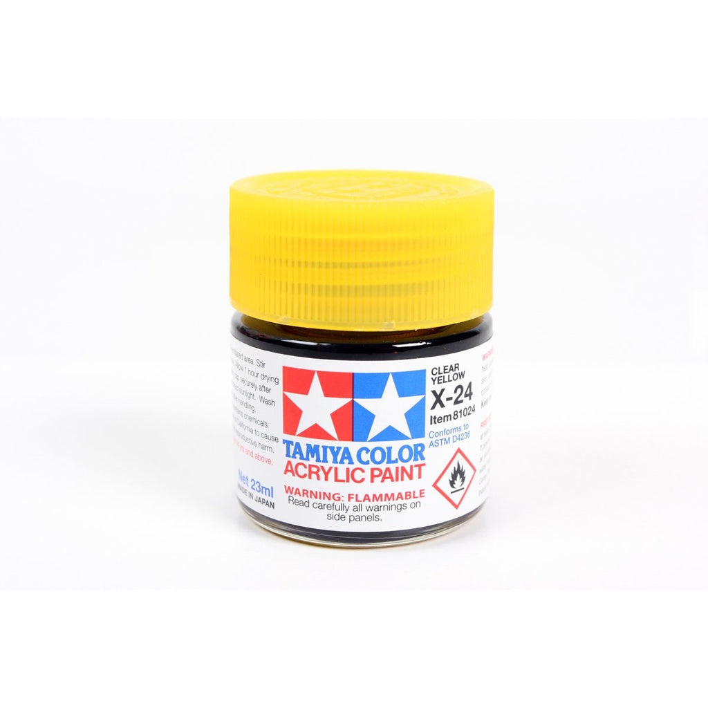 Acrylic X-24 Clear Yellow 23Ml Bottle / Tamiya USA