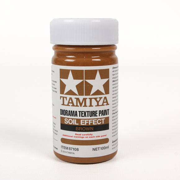 Diorama Texture Paint 100Ml Soil Effect: Brown / Tamiya USA