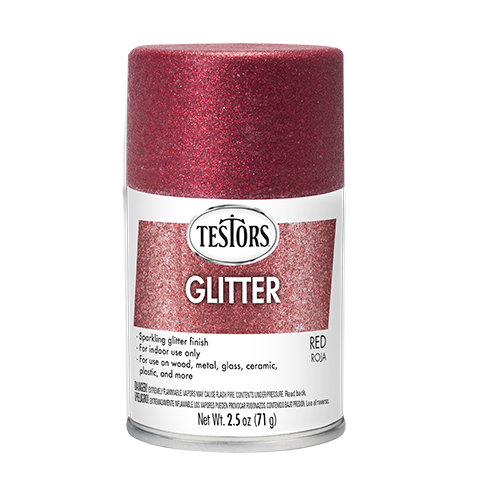 Testors Enamel Spray Red Glitter