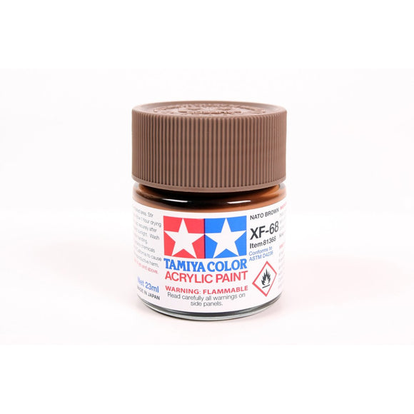 Acrylic Xf-68 Nato Brown 23Ml Bottle / Tamiya USA
