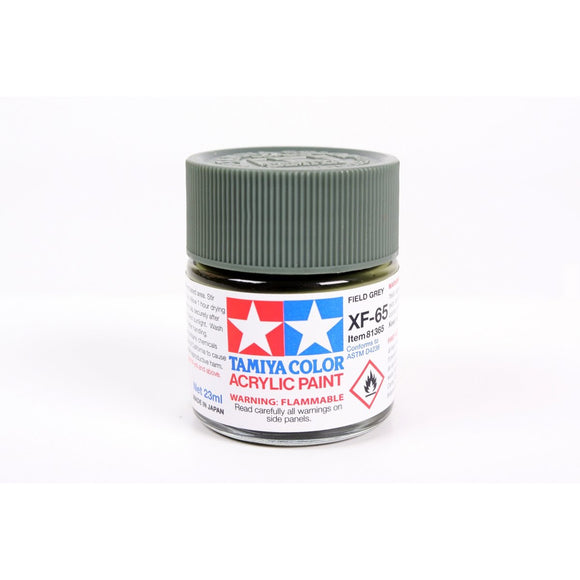 Acrylic Xf-65 Field Gray 23Ml Bottle / Tamiya USA