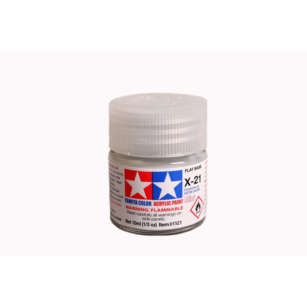 Acrylic Mini X-21 Flat Base 10Ml Bottle / Tamiya USA
