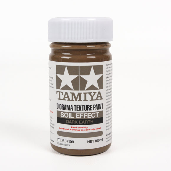 Diorama Texture Paint 100Ml Soil Effect: Dark Earth / Tamiya USA