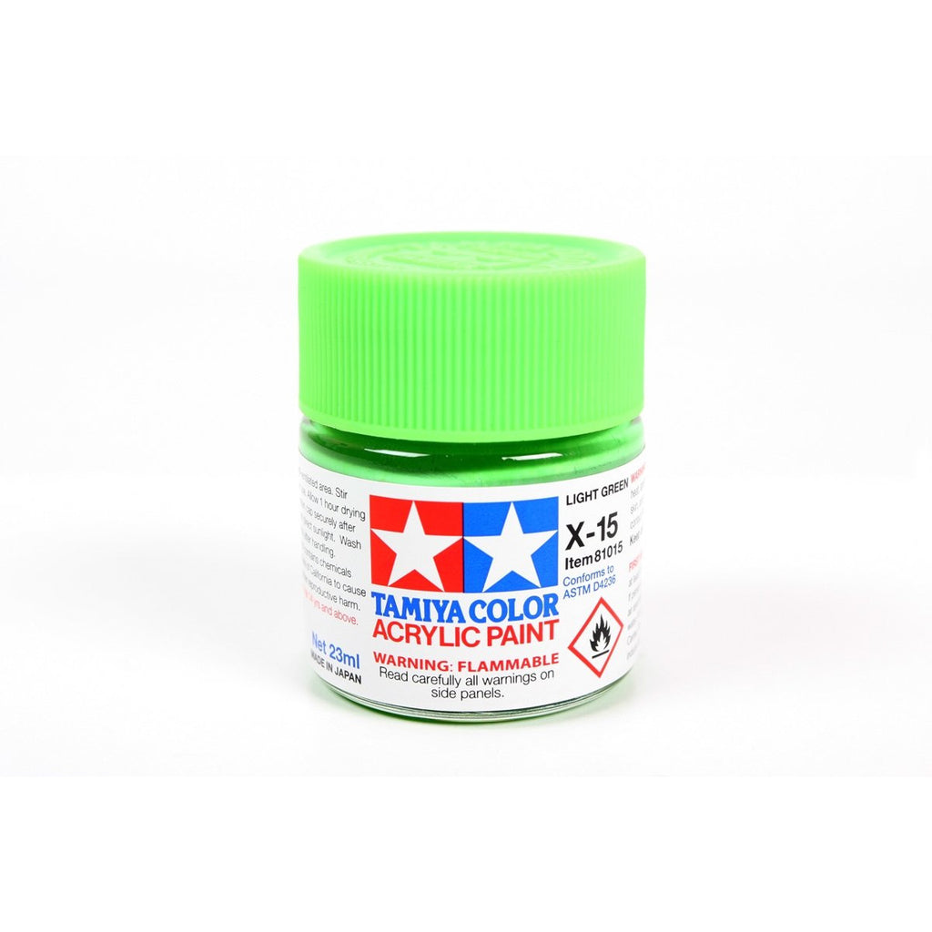 Acrylic X-15 Light Green 23Ml Bottle / Tamiya USA