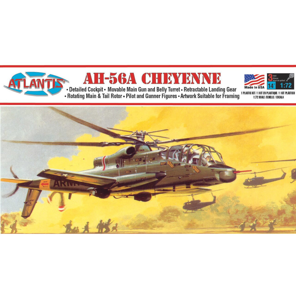 Atlantis 1/72 AH-56A Cheyenne 1/72 Plastic Model Kit