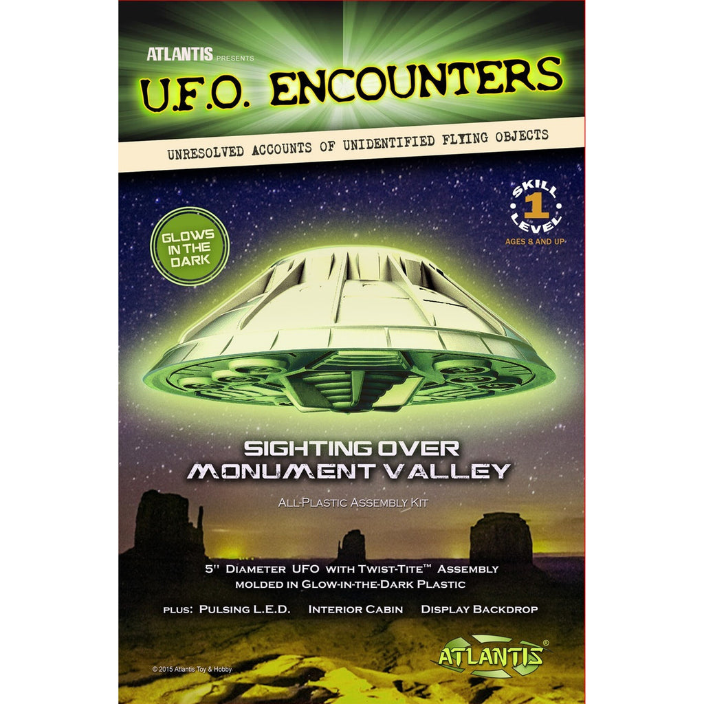 Atlantis UFO Encounters Monument Valley Glow in the Dark Plastic Model kit
