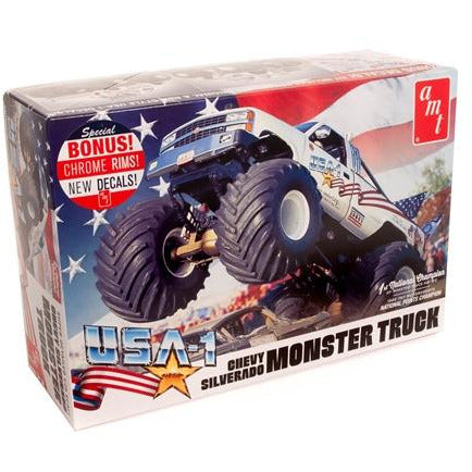 AMT 1-25 USA-1 Chevy Silverado Monster Truck Model Kit