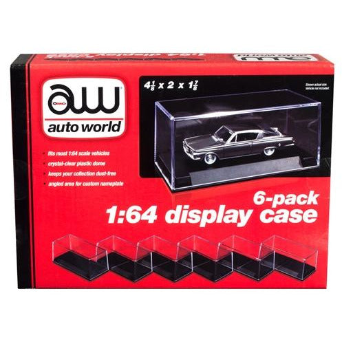 Auto World Display Case (6 Pack) for 1:64 scale