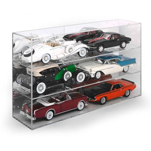 Auto World Six-Car Acrylic Display Case (For 1:18 Scale Vehicles)