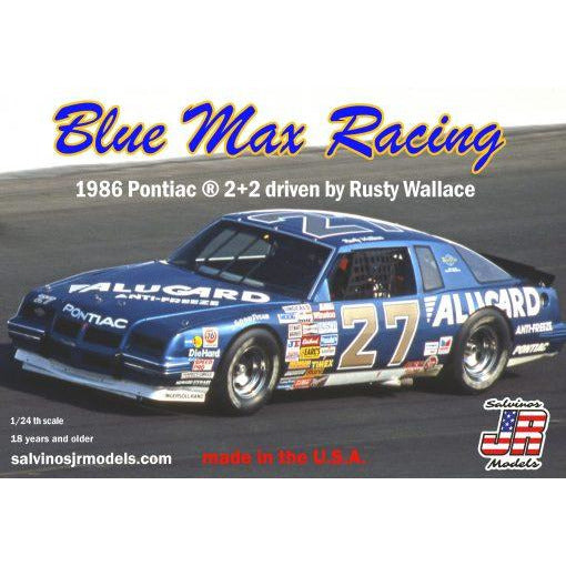 Salvinos JR 1/25 Blue Max Racing 1986 Pontiac 2+2 driven by Rusty Wallace
