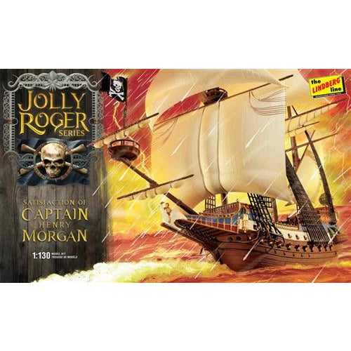 Lindberg Jolly Roger Series: Satisfaction of Capt. Morgan 1:130 Scale Model Kit