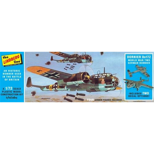 Lindberg Dornier Do17Z German Bomber 1:72 Scale Model Kit