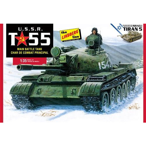 Lindberg USSR T-55 Battle Tank 1:35 Scale Model Kit
