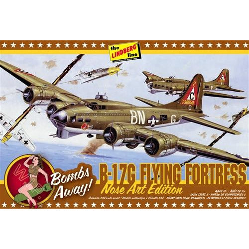 Lindberg B-17G Nose Art Edition 1:64 Scale Model Kit
