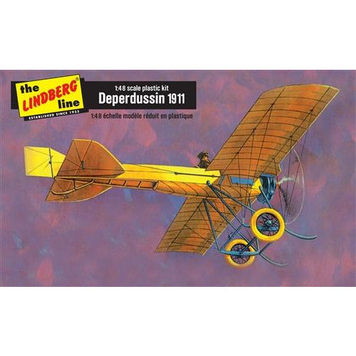 Lindberg 1911 Deperdussin w/ puzzle 1:48 Scale Model Kit