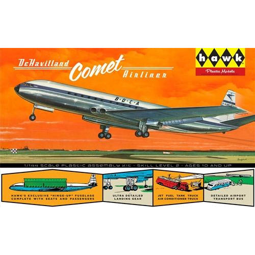 Hawk British Jetliner DeHavilland Comet 1:144 Scale Model Kit