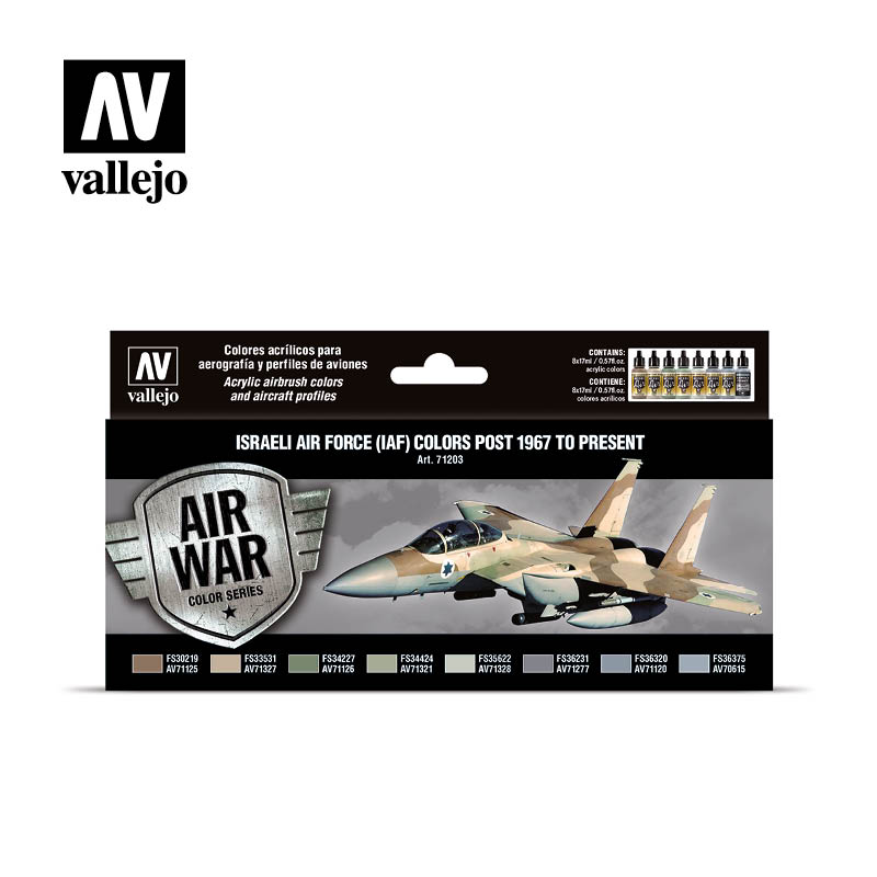 Vallejo Air War - Israeli Air Force (IAF) colors post 1967 to present