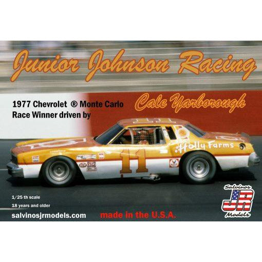 Salvinos JR 1/25 Junior Johnson Racing 1977 Chevrolet ® Monte Carlo driven by Cale Yarborough