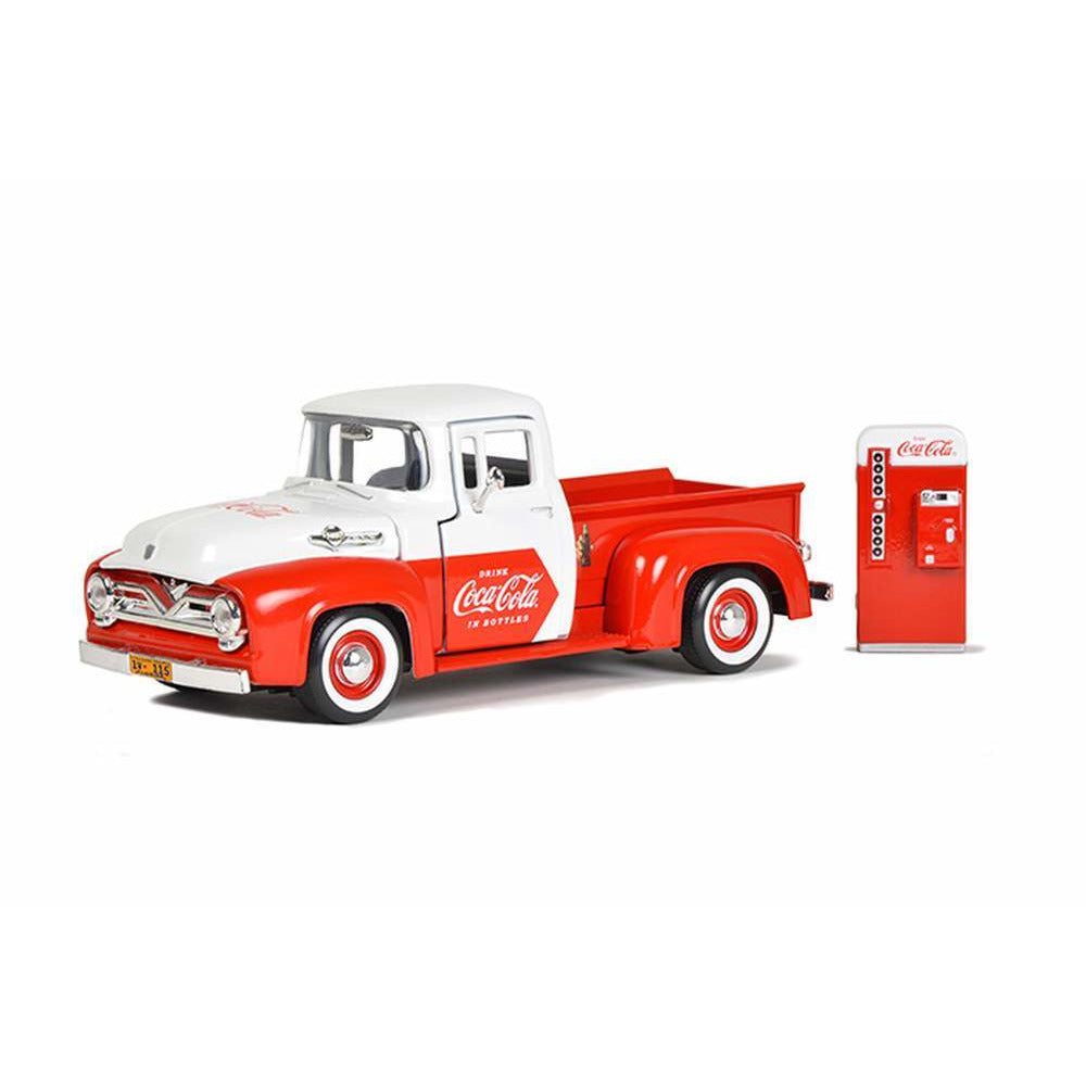 Motor City Classics 1:24 1955-Ford-F-100-Pickup-with-Vending-Machine-Accessory