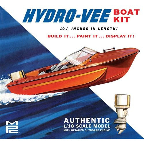 MPC Hydro-Vee Boat 1:18 Scale Model Kit
