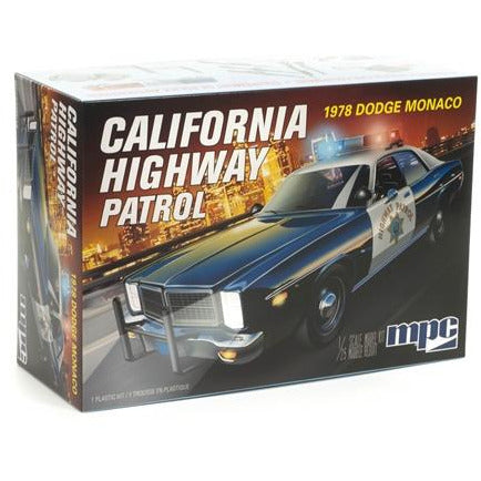 MPC 1978 Dodge Monaco CHP Police Car 1:25 Scale Model Kit