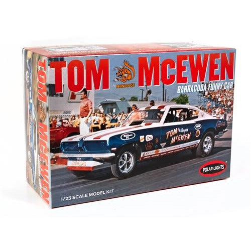 "Polar Lights Tom ""Mongoose"" McEwen 1969 Barracuda Funny Car 1:25 Scale Model Kit"