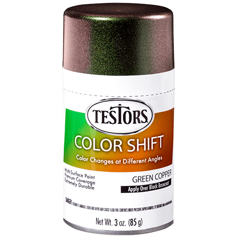 Testors Color Shift Aerosols Green Copper