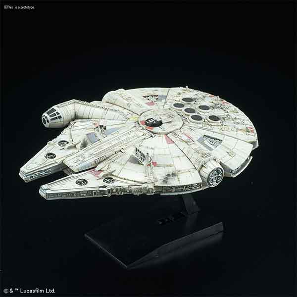 "006 Millennium Falcon ""Star Wars"", Bandai Star Wars Vehicle Plastic 1/350 Model"