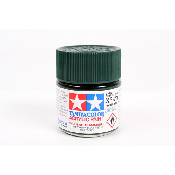 Acrylic Xf-70 Dark Green 23Ml Bottle / Tamiya USA